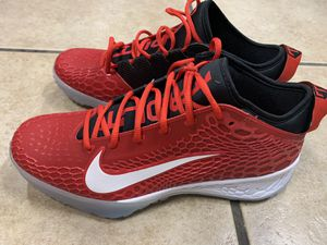 Photo Nike Force Zoom Mike Trout 5 Turf Shoe AH3374-601 Men's Size 11 Red