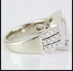 14k Gold Princess + Round Diamond Ring Thumbnail