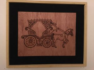 Pyrographics wood burning cows and horse car for Sale in Falls Church, VA