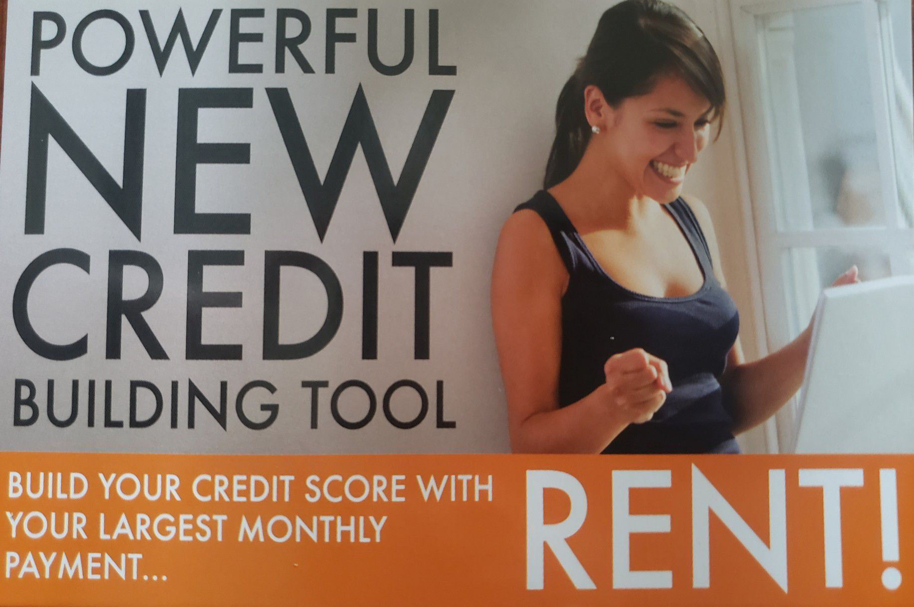 Photo USE YOUR RENT TO BUILD YOUR CREDIT SCORE
