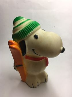 Vintage Snoopy Rubber Squeaker Toy Thumbnail