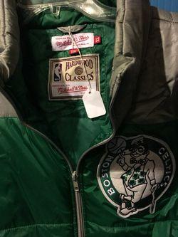 Boston celtics mitchell & ness zip vest size xl (new) Thumbnail