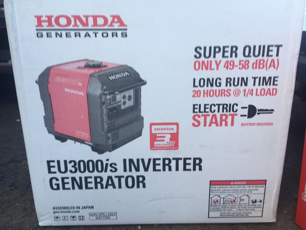 New In Box Honda Eu3000is Inverter Generator For Sale In