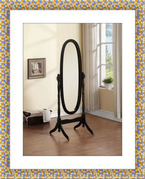 Black swivel oval mirror for Sale in McLean, VA