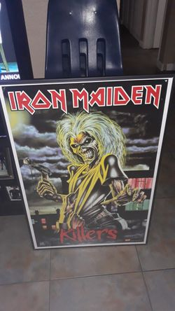 Must See Framed Iron Maiden 36 By 24 Poster Perfect For Man Cave Very Collectable 25 Doll Thumbnail
