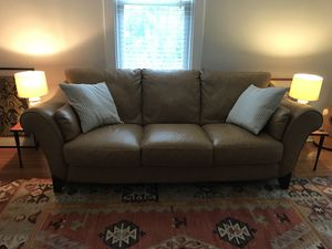 Leather couch for Sale in Falls Church, VA