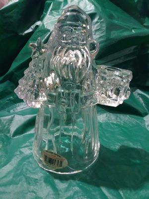Imperial Lead Crystal Santa Claus Candle Holder for Sale in Pittsburgh, PA