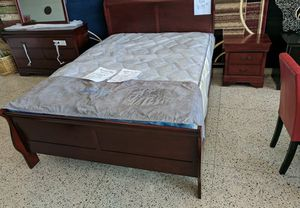 Mirror dresser headboard footboard and the nightstand for Sale in Henrico, VA