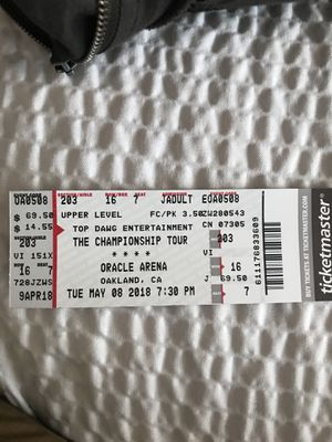 """Kendrick Lamar """"The Championship Tour"""" for Sale in San Francisco, CA"""