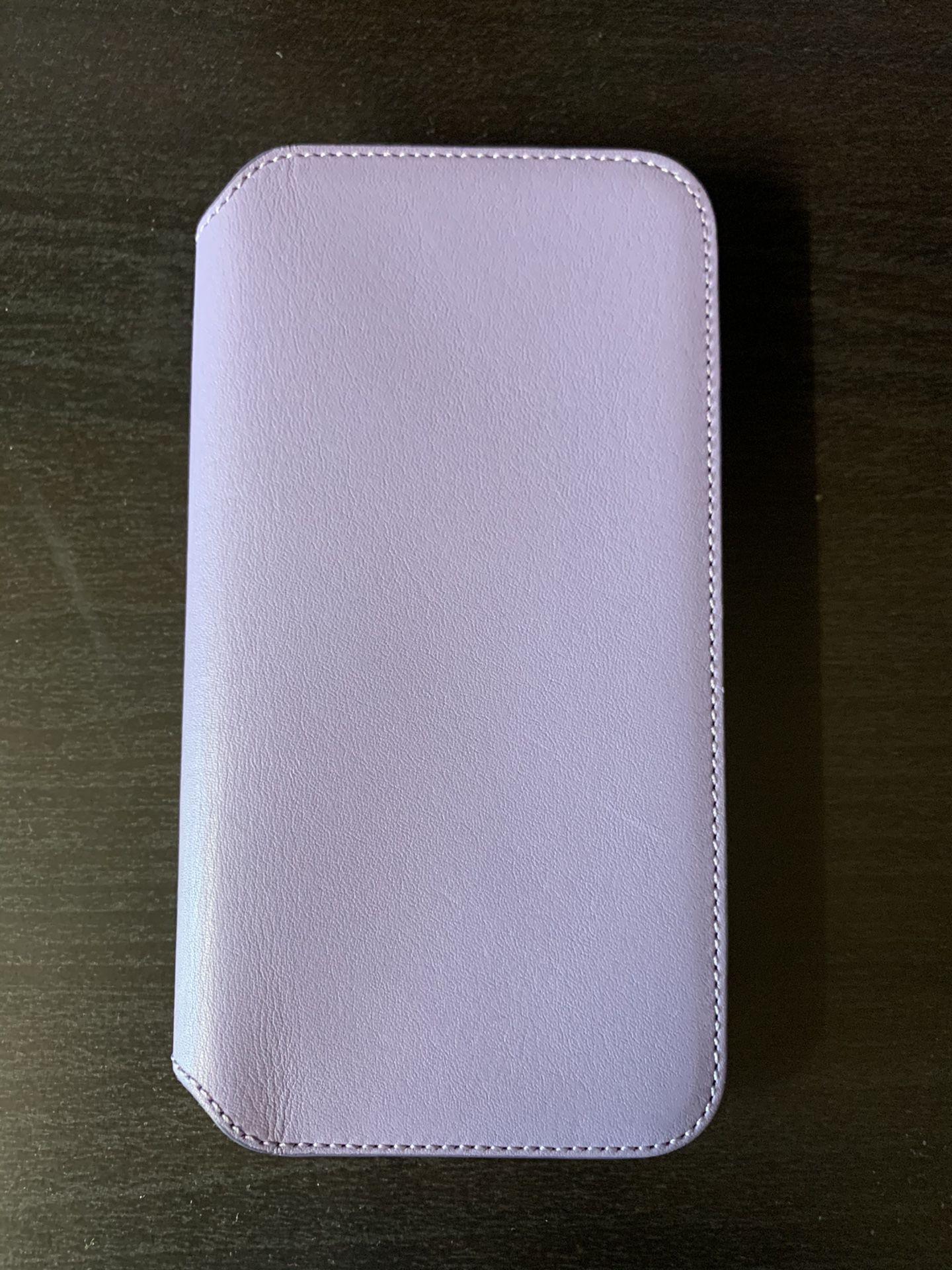 Apple iPhone XS Leather Folio Case - Lilac