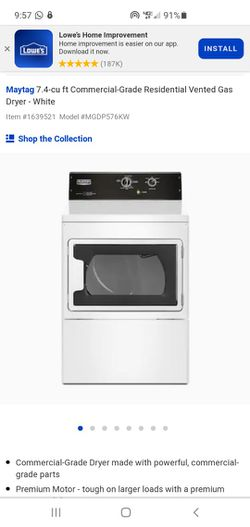 Maytag commercial gas dryer Thumbnail