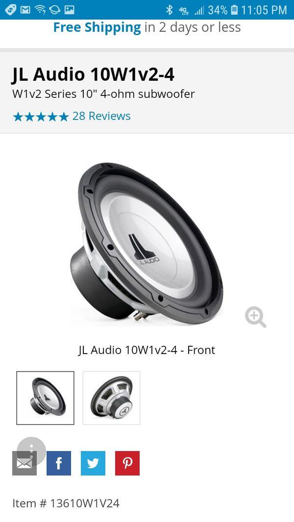 jl audio 10 inch subwoofer reviews