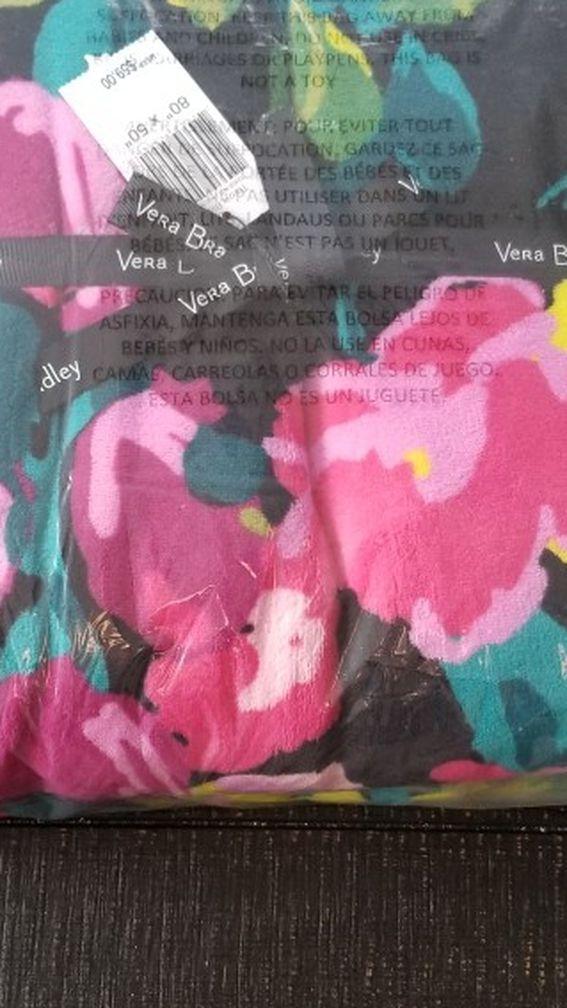 """New Vera Bradley Throw Blanket - Hilo Meadow 50"""" X 80"""""""