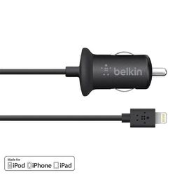 Belkin 10 watt 2.1 Amp Car Charger with Lightning connector for Apple iPhone 8/7/7S/6S Plus/6S/6 Plus/6/SE/5C/5S/5 Thumbnail