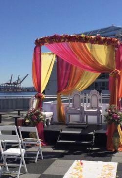 Wedding Bride Groom Chairs Set Of 6 Thumbnail