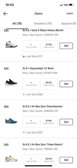 Sneaker collection, DS Size 8.5 All Exclusives Thumbnail