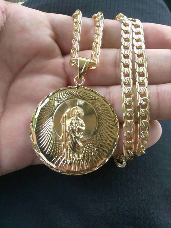 Cadena con Medalla de San Judas de Oro laminado for Sale ...