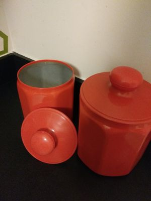 Vintage 1970s Kromex 4 piece canister set for Sale in Baltimore, MD