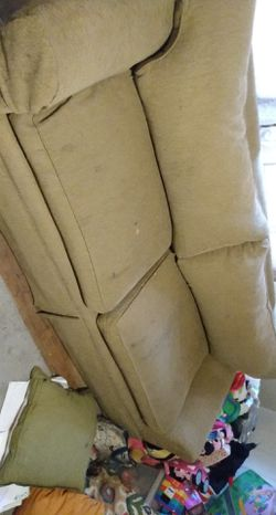 Pier 1 sofa with cushions floral print Thumbnail
