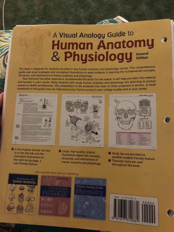 A Visual Analogy Guide To Human Anatomy Physiology For Sale In
