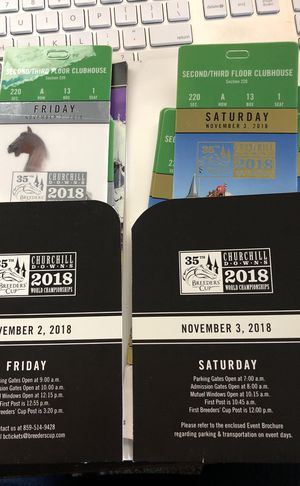 (3) Breeder's Cup Tickets for Sale in Murfreesboro, TN
