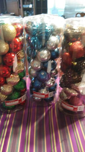 50 pc shatter proof ornaments for Sale in DeLand, FL