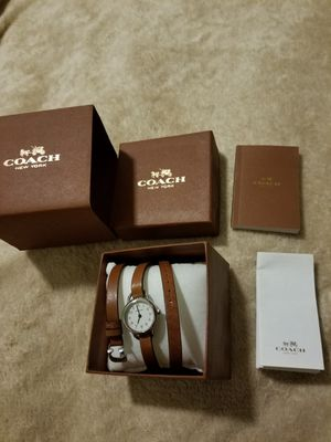 Womens Coach leather wrap around watch for Sale in Henderson, NV