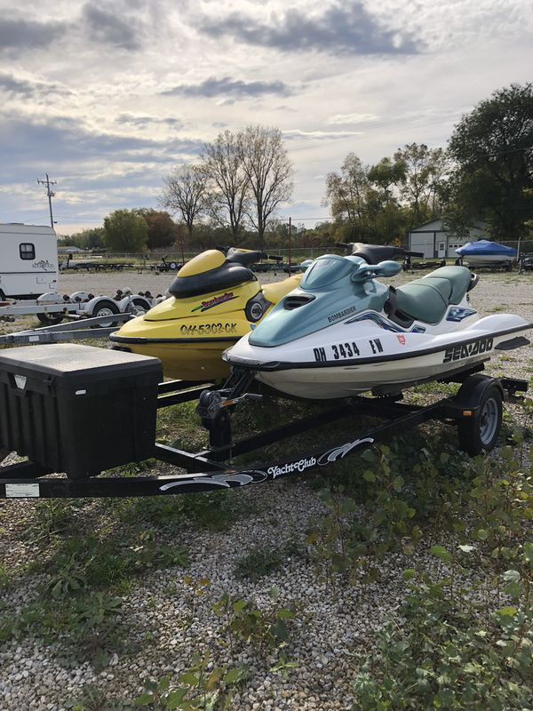 1998 sea doo xp 2001 sea doo gti jet skis with double trailer