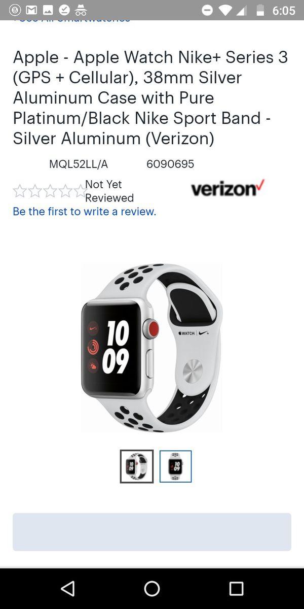 b92253a38 Apple - Apple Watch Nike+ Series 3 (GPS + Cellular)