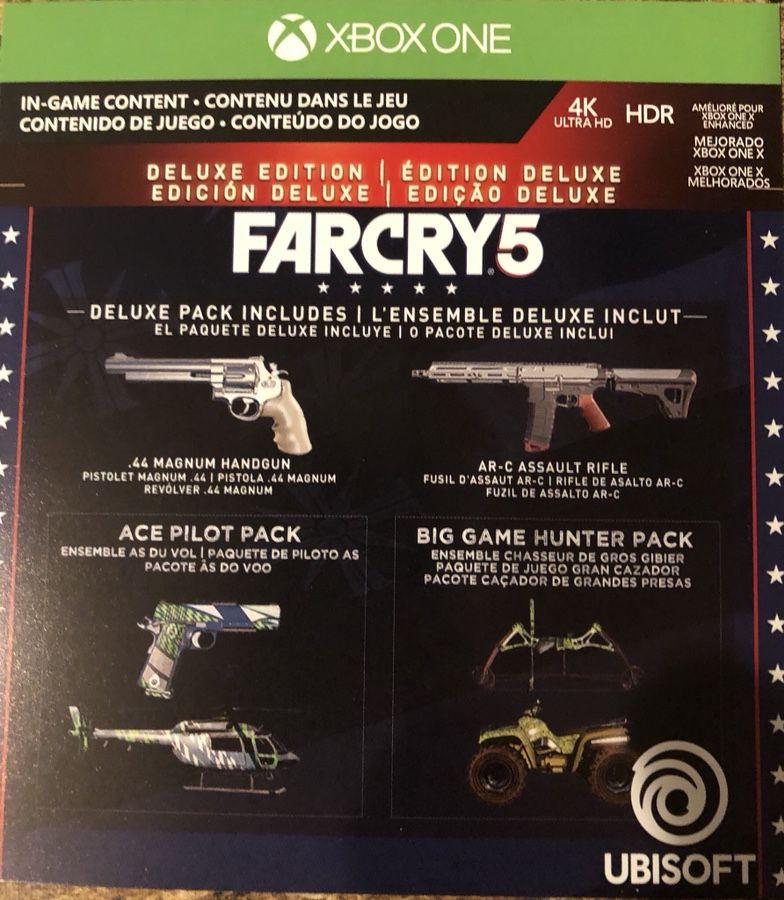 Farcry 5 DELUXE XBOX NEW NO CASE