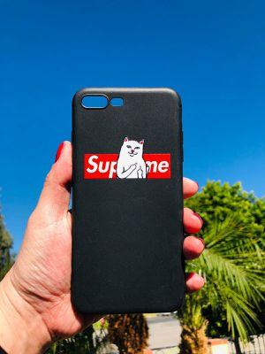 New iphone 7+ or iphone 8+ plus case ripndip bad kitty Supreme sauce hypebeast cool for Sale in San Bernardino, CA