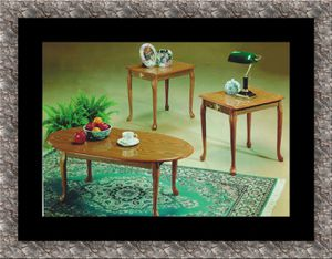 3pc coffee table Oak for Sale in Herndon, VA