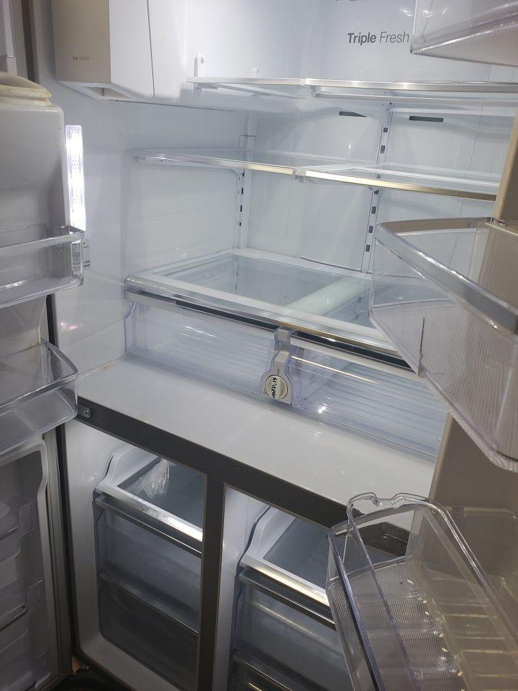 Samsung stainless steel 4 door refrigerator
