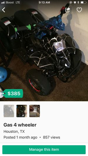 4 wheeler for Sale in Houston, TX
