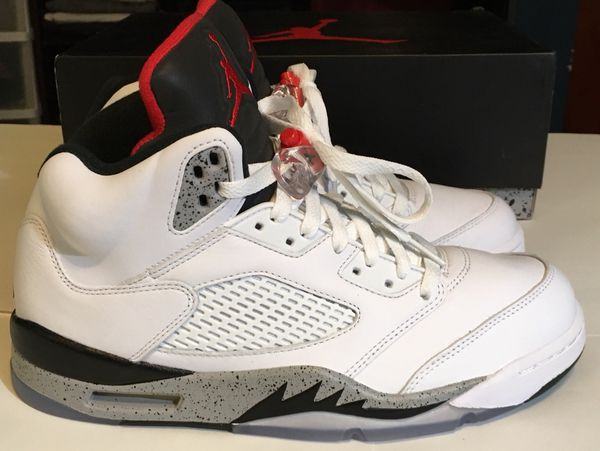 "6eeb04f347c2 Air Jordan 5 Retro ""WHITE CEMENT"" Size 9 for Sale in Portland"