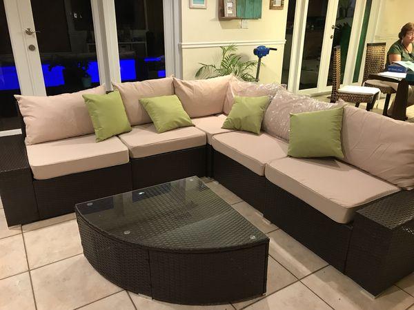 Rattan Living Room Set Patio Furniture For Sale In Miami FL