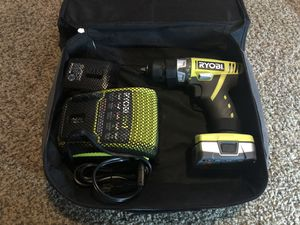 Ryobi 12v drill with case, charger, and 2 batteries for Sale in Glen Burnie, MD