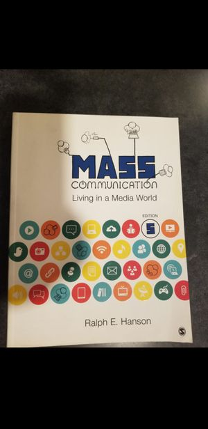 Mass communication book 5th for Sale in Boston, MA