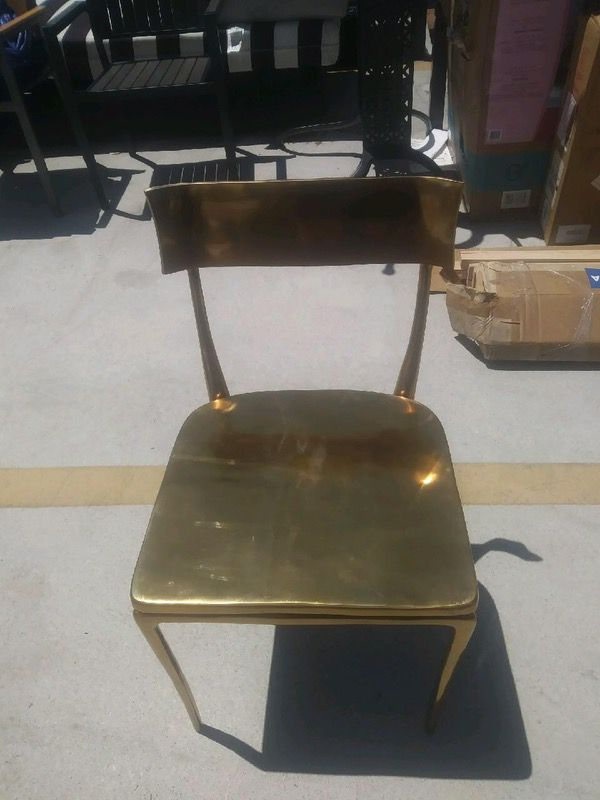 Cb2 Gold Midas Dining Chairs Brand New Used Only For Home Staging 100 00 Each Furniture In Santa Monica Ca Offerup