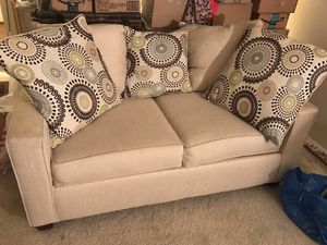Beige Fabric Loveseat from VCF for Sale in Chevy Chase, MD