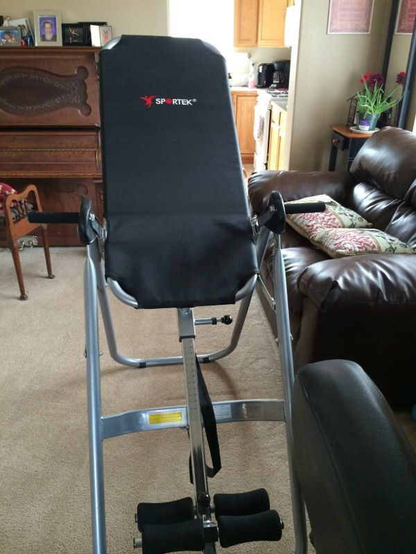 Sportek Inversion Table For Backs For Sale In Arlington Wa Offerup Inversion therapy is one of the best ways to get rid of lower back pain, neck pain and problems like sciatica. sportek inversion table for backs for