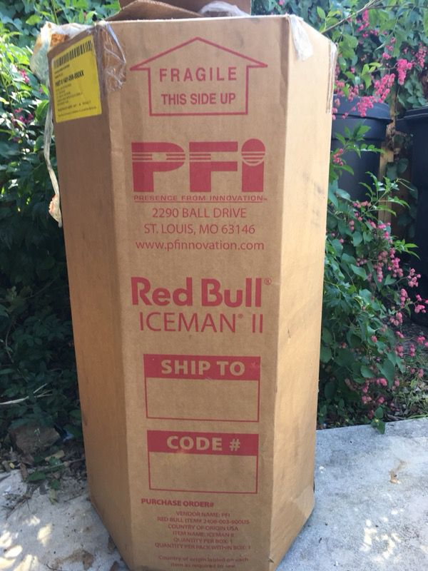 New In The Box Red Bull Iceman 2 Wheeled Ice Cooler 55
