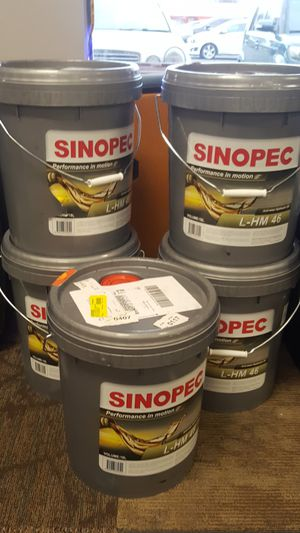 Sinopec AW 46 Hydraulic Oil Fluid (ISO VG 46, SAE 15) - 5 Gallon Pails for  Sale in Round Rock, TX - OfferUp