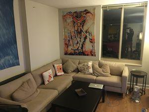 Sofa + Table for Sale in Arlington, VA