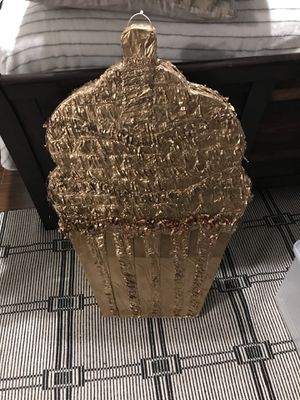 Large Gold Cupcake Piñata for Sale in Dallas, TX