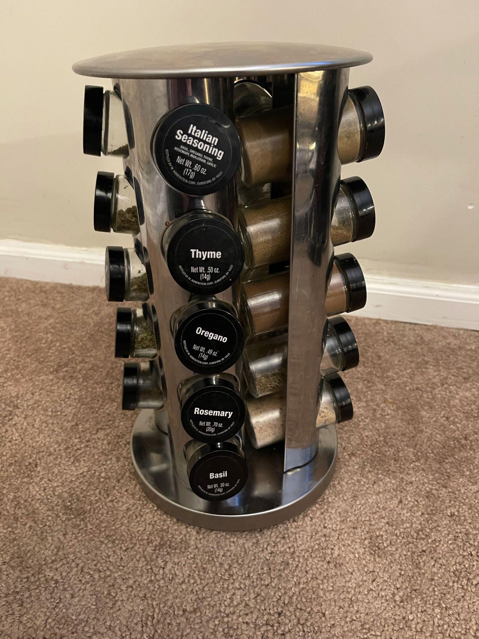 Rotating 20-slot Spice Rack