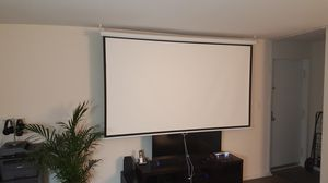 100 inch 16:9 HD Projector Screen Manual Pull Down Home Theater for Sale in Alexandria, VA