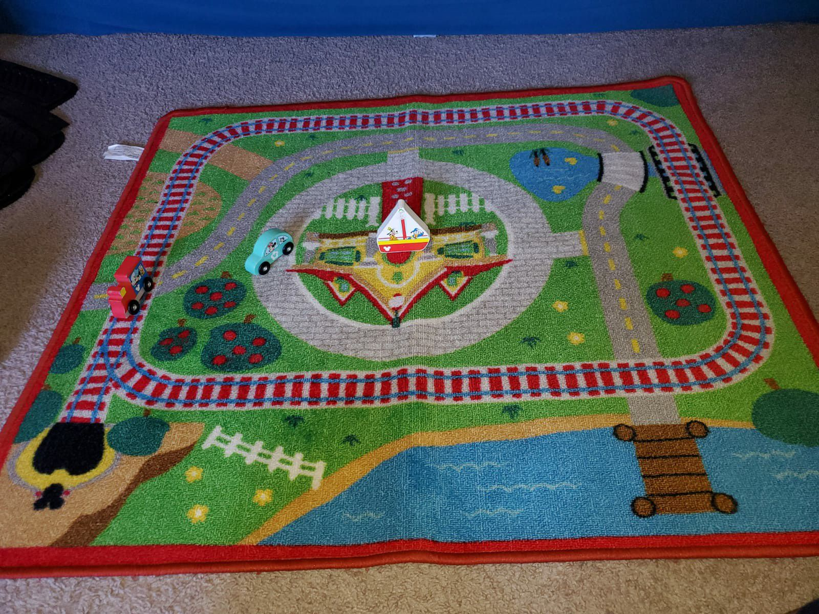 Kids Mat,puzzle and wooden blocks