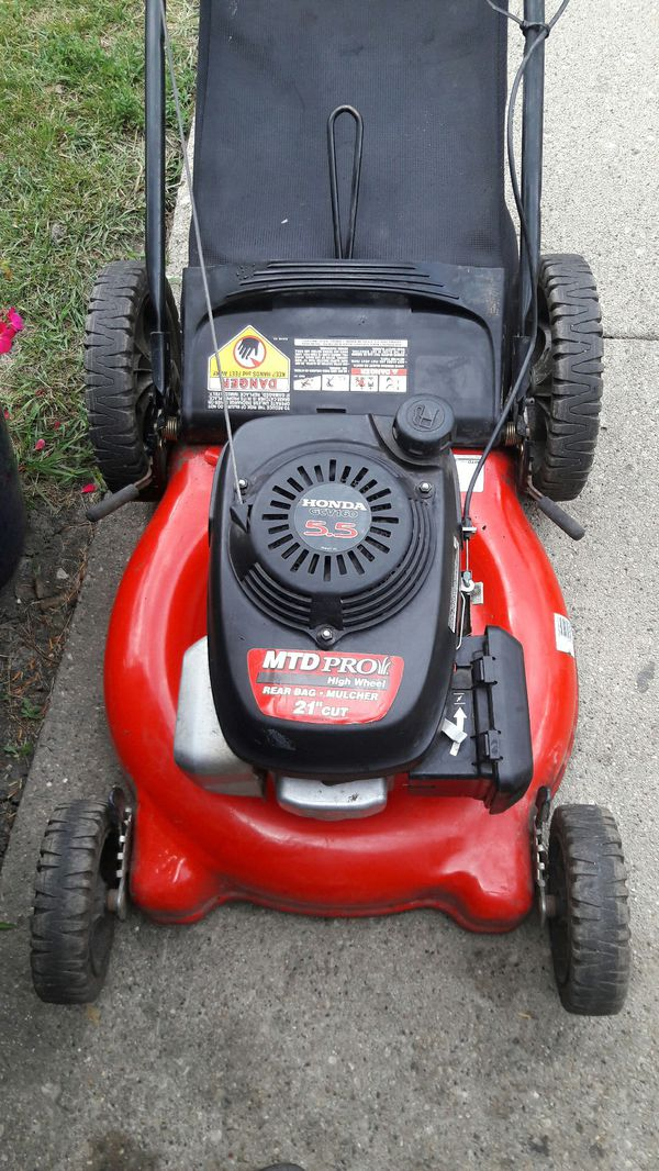 Honda By Mtd Pro Push Lawn Mower With Bag Working Good For In Niles Il Offerup