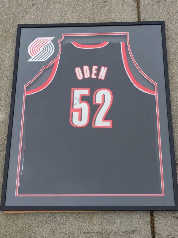ba179aa6b Signed   Framed Greg Oden jersey for Sale in Edmonds